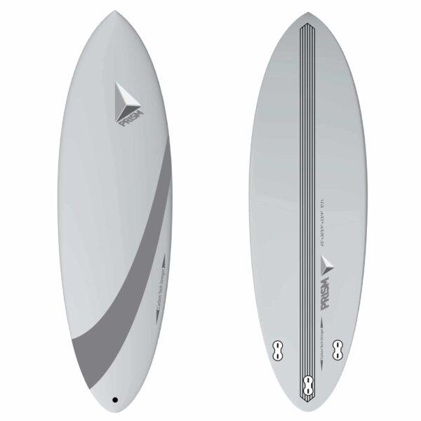 Planche de surf carbone hybride 6'2