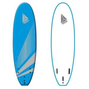 Softboard 6'0 Bleu avec poignée Prism Surfboards