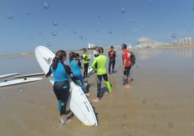 Erreurs surfeurs débutants